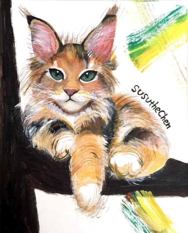Acrylic Animal Portrait